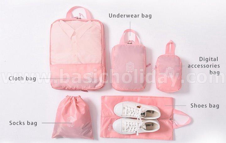 กระเป๋าเอนกประสงค์ bag in bag กระเป๋าจัดระเบียบ กระเป๋าอเนกประสงค์ พับได้ พกพาสะดวก สกรีนโลโก้ ทำของแจก ของขวัญปีใหม่