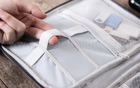 กระเป๋าใส่พาสปอร์ต bag in bag กระเป๋าจัดระเบียบ กระเป๋าใส่ของจุกจิก ของแจกพรีเมี่ยม ของขวัญ ของชำร่วย