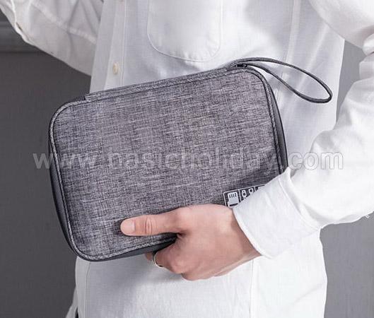 กระเป๋าใส่พาสปอร์ต bag in bag กระเป๋าจัดระเบียบ กระเป๋าใส่ของจุกจิก กระเป๋าท่องเที่ยว สกรีนฟรี ของที่ระลึก ของขวัญปีใหม่ ของแจก