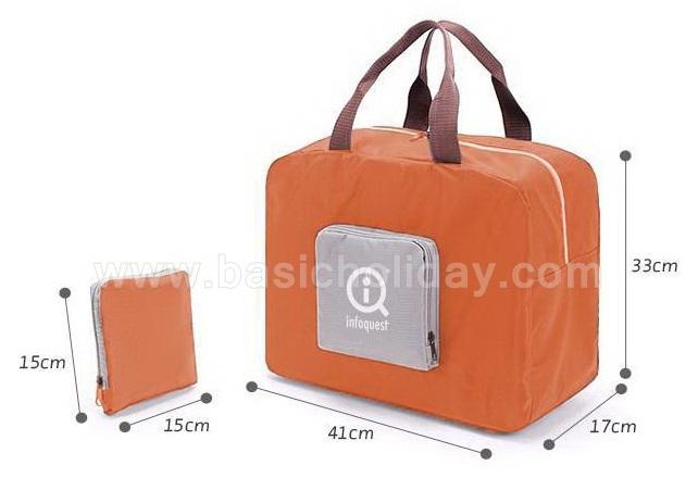 กระเป๋าผ้าพับเก็บได้ สินค้าพรีเมียม ของพรีเมี่ยม ของที่ระลึก ของชำร่วย ของแจกลูกค้า สกรีนฟรี งานด่วน