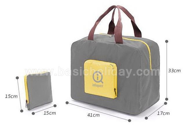 กระเป๋าผ้าพับได้ สกรีนโลโก้ ทำเป็นสินค้าพรีเมี่ยม ของที่ระลึก ของชำร่วย รับผลิต กระเป๋าพับได้ ของแจก