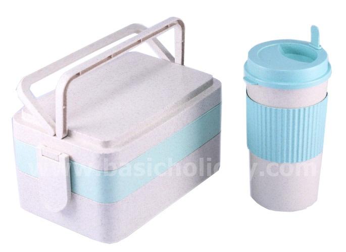 ชุดกล่องใส่อาหารและกระบอกน้ำ ECO