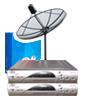 ชุดจานดาวเทียม ไดน่าแซท รับความถี่ ซีแบนด์ ขนาดจาน 5.5ฟุต แบบ4ชิ้นประกอบกัน + รีซีเวอร์(Dby รุ่น LE0905) รับชม2จุด  แบบฟิกซ์รับชม1ดวง