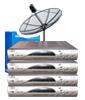 ชุดจานดาวเทียม ไดน่าแซท รับความถี่ ซีแบนด์ ขนาดจาน 5ฟุต แบบ4ชิ้นประกอบกัน + รีซีเวอร์(Dby รุ่น LE0905) รับชม4จุด  แบบฟิกซ์รับชม1ดวง