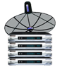 receiver Simple box3 + จานINFOSAT ขนาด6ฟุต ระบบC-band รับดาวไทยคม2&5 จุดรับชม4จุด