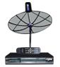 receiver Simple box4 + จานINFOSAT ขนาด4.5ฟุต ระบบC-band รับดาวไทยคม2&5 จุดรับชม1จุด