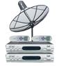 receiver Idea-chanรุ่น M-sattel1 + จานidea-chan ขนาด150cm ระบบC-band รับดาวไทยคม2&5 จุดรับชม2จุด