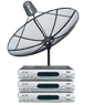 receiver Idea-chanรุ่น M-sattel1 + จานidea-chan ขนาด160cm ระบบC-band รับดาวไทยคม2&5 จุดรับชม3จุด