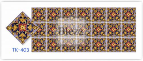 Blezz Tile Handmade Series - Paint&Drop code TK403 Pattern
