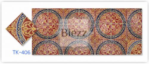 Blezz Tile Handmade Series - Paint&Drop code TK406 Pattern