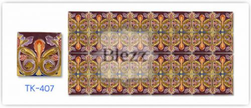 Blezz Tile Handmade Series - Paint&Drop code TK407 Pattern