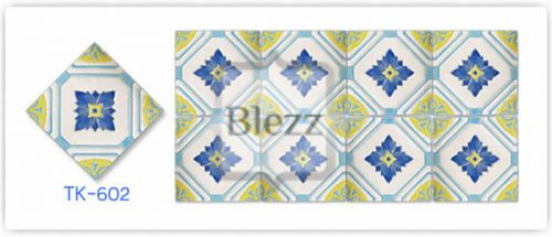 Blezz Tile Handmade Series - Paint&Drop code TK602 Pattern