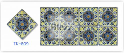 Blezz Tile Handmade Series - Paint&Drop code TK609 Pattern