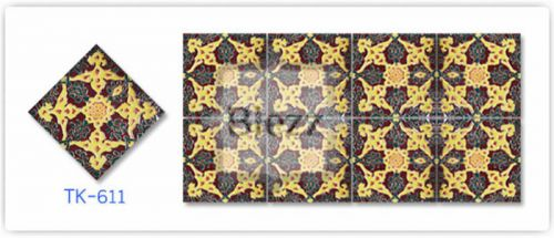 Blezz Tile Handmade Series - Paint&Drop code TK611 Pattern