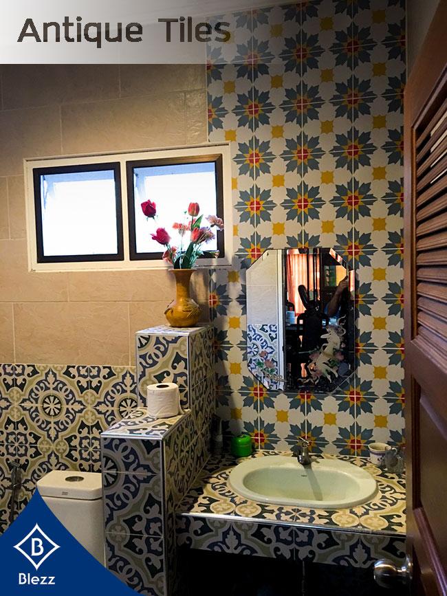 Bathroom antique swimming pool tiles
