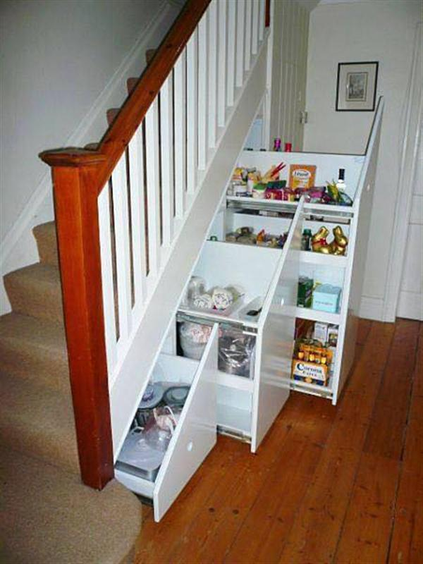 use space under stairs
