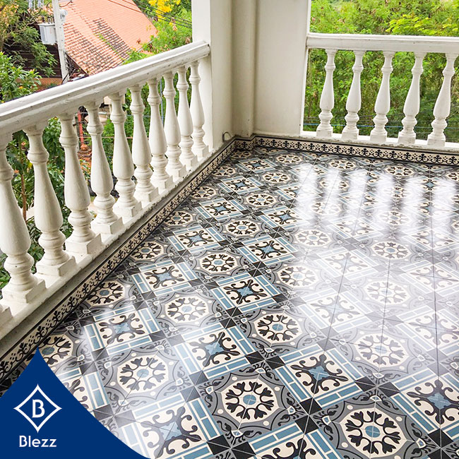 antique tiles balcony