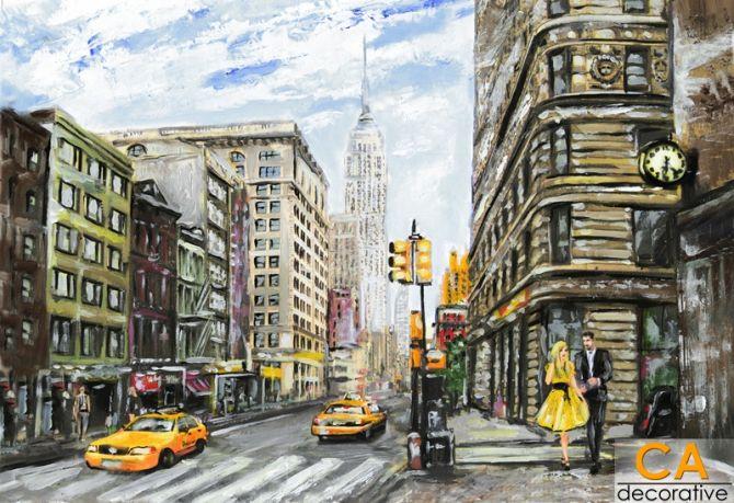 ภาพวาดสีน้ำมัน ของมหานครนิวยอร์ค