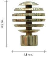 หัวรางม่าน titanium สีโลหะ หัวกลม