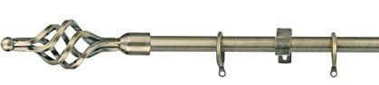 Titanium ราวผ้าม่าน 19 มม. สีโลหะ หัวเกลียวกลม หัวเกลียว LSW EB 03