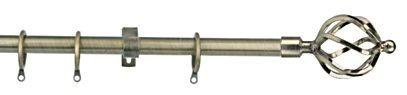 Titanium ราวผ้าม่าน 19 มม. สีโลหะ หัวเกลียวกลม หัวเกลียว LSW ZB 03