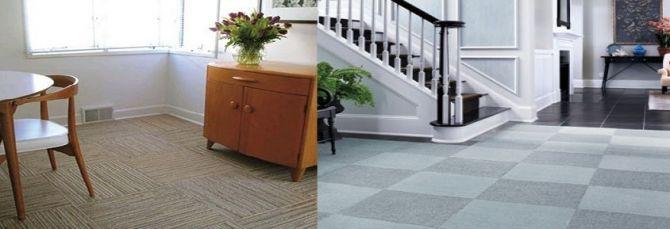 ตัวอย่างกระเบื้องยาง PVC Carpet Floor tile