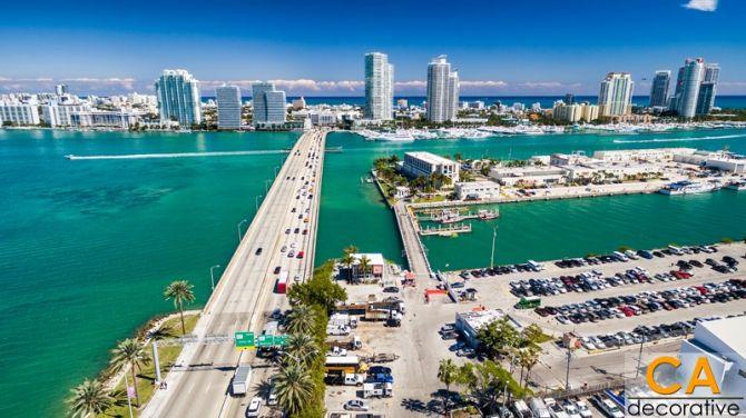 สะพานเชื่อมเกาะ Macarthur Causeway, Florida - USA