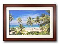 ภาพติดผนังชายหาดต้นมะพร้าวสวย