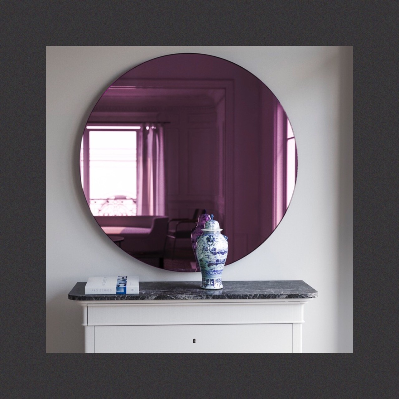 กระจกเงาสีม่วง