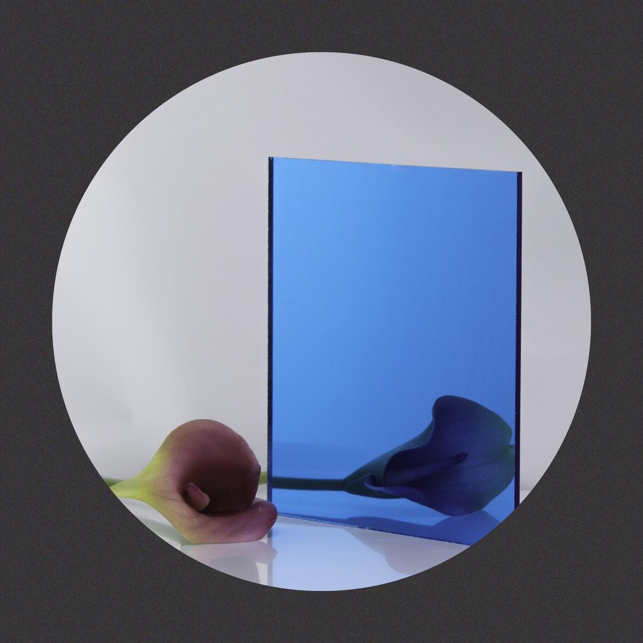 กระจกเงาสี Blue Mirror Glass