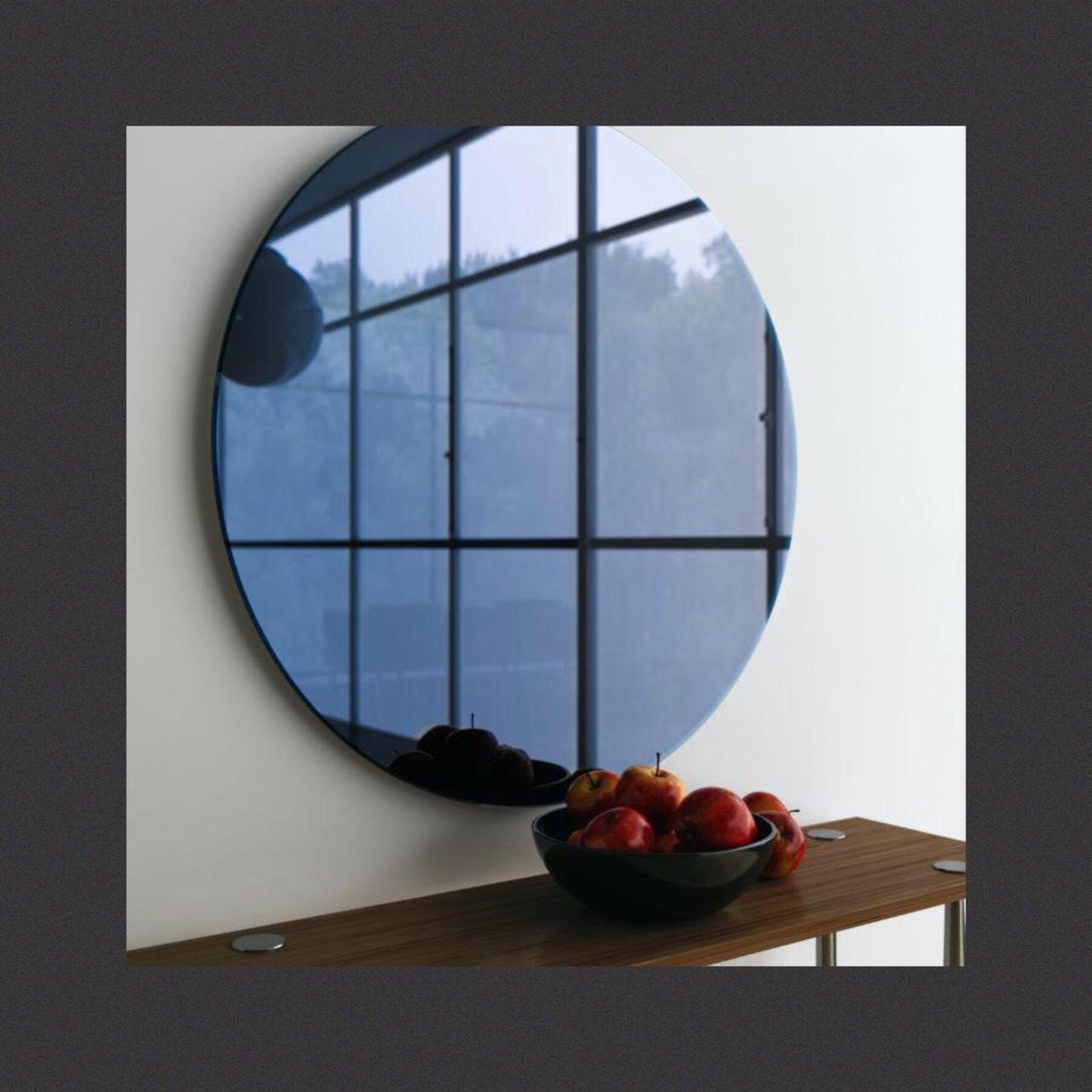 กระจกเงาสีเทาฟ้า Blue Grey Mirror