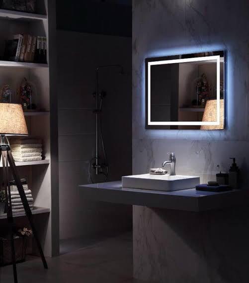 กระจกเงาซ่อนไฟ LED