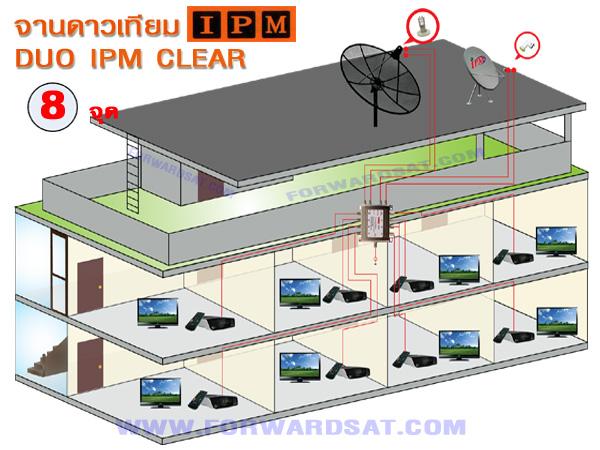 จานดาวเทียม DUO IPM CLEAR