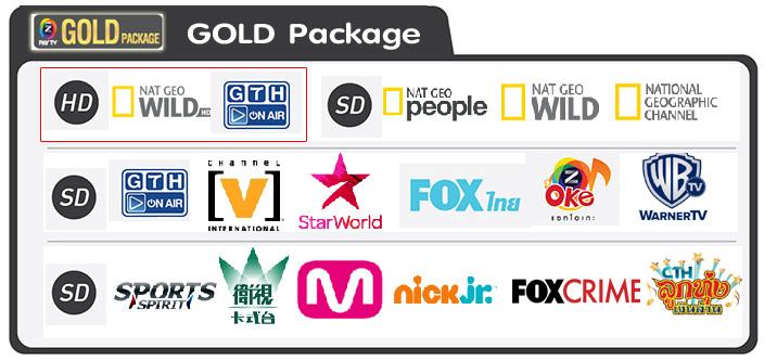 GMMZ PAY TV GOLD PACKAGE, ชุดจานดาวเทียม GMMZ HD