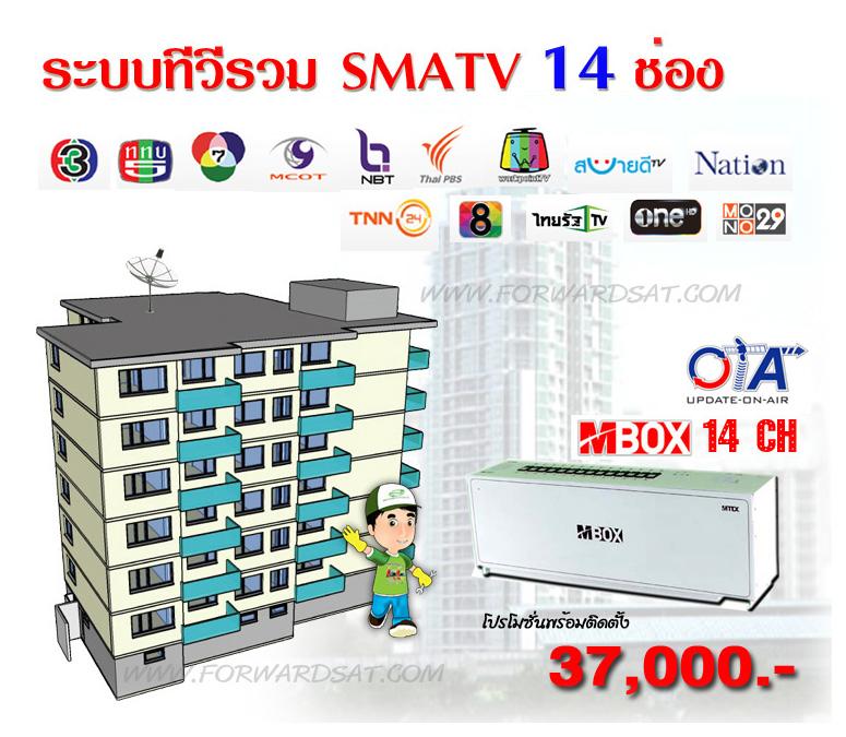ระบบทีวีรวม MBOX 14 CH, MATV, ระบบทีวีรวม, ระบบทีวีอพาร์ทเม้นท์, ทีวีคอนโด, ทีวีรีสอร์ท, ระบบทีวีในอาคาร