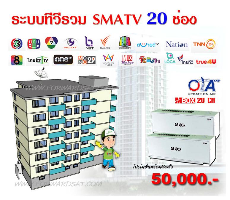 ระบบทีวีรวม MBOX 20, MATV, รับติดตั้งระบบทีวีรวม, ทีวีอพาร์ทเม้นท์, ทีวีคอนโด, ทีวีรีสอร์ท, แก้ปัญหาสัญญาณทีวีไม่ชัด