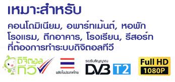 ชุดงานระบบทีวีรวม ดิจิตอลทีวี, Digital TV, MATV