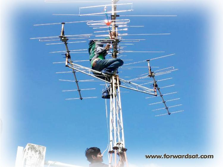 ติดตั้งระบบทีวีรวม, ระบบดิจิตอลทีวี, ติดตั้งเสาอากาศ