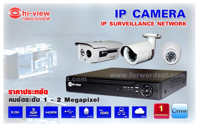 ชุดกล้องวงจรปิด Hiview ระบบ IP Camera ราคาประหยัดพร้อมติดตั้ง, Hiview IP Camera