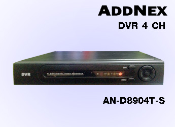 เครื่องบันทึกกล้องวงจรปิด DVR ADDNEX 4 CH รุ่น AN-D8904T-S