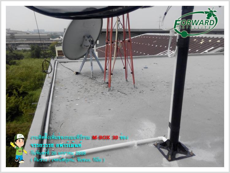 งานติดตั้งระบบทีวีรวม MATV ชุดงานระบบ M-BOX 30 ช่อง