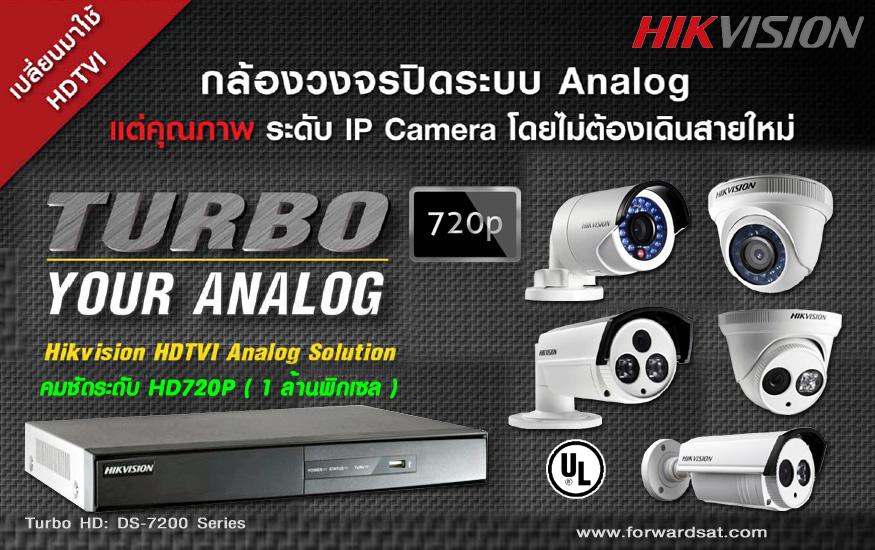 กล้องวงจรปิด HIKVISION ระบบ HDTVI, Turbo HD 720P