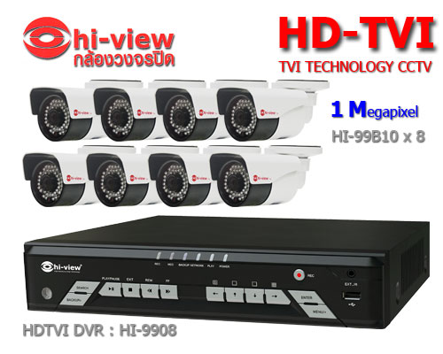 กล้องวงจรปิด Hiview HDTVI 8 CH
