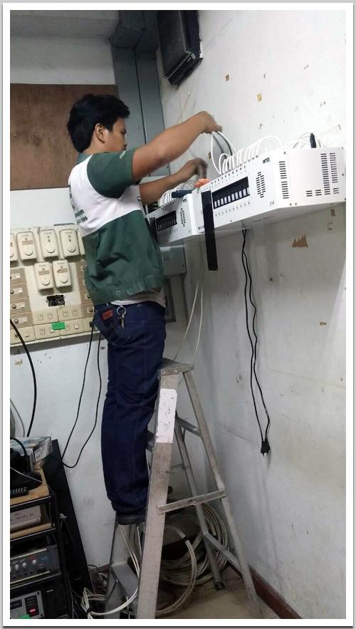 งานติดตั้งระบบทีวีรวม MATV 20 ช่อง ที่โรงเรียนรัตนโกสินทร์สมโภชบางขุนเทียน