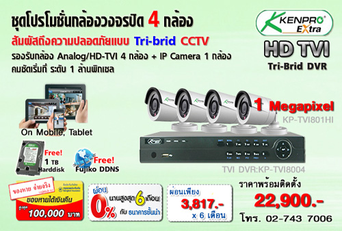 �ش���ͧǧ�ûԴ Kenpro HDTVI 4 ���ͧ������Դ���