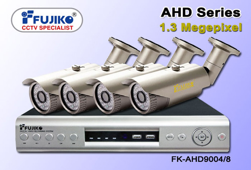 ชุดกล้องวงจรปิด Fujiko AHD 4 กล้อง พร้อมติดตั้ง