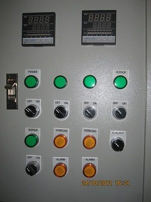 control panel for furnace