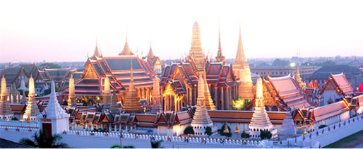 Grand Palance and temple of Emerald Buddha, Bangkok, Thailand