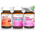 Vistra Acerola 45 Tabs + Vistra gluta complex 800 30 Caps + Vistra Grape Seed 30 Caps