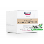 Eucerin Hyaluron Radiance Lift Filler Night Cream ปริมาณสุทธิ 50 ml.